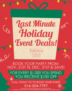 'tis the season for holiday savings! Book your event with us from now until December 31st and you'll receive $100 off for every $1,000 you spend! Call us today to start planning!